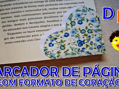 DIY: Marcador de página com formato de coração| Faça vocês mes