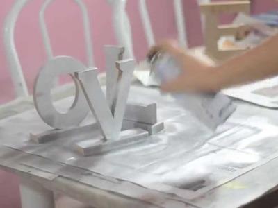 Diy: Pintando letras de madeira LOVE para decoração