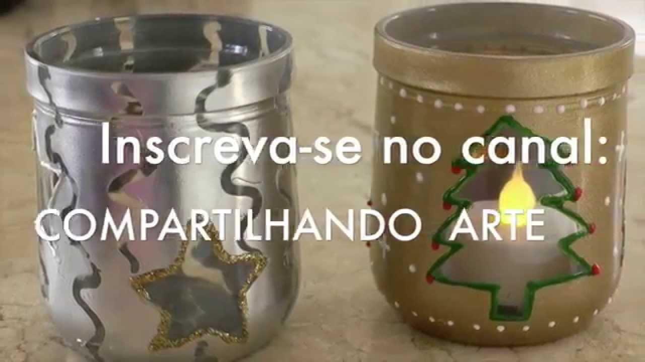 DIY: PORTA VELAS DE COPOS DE VIDRO RECICLAVEL-  Dica de Natal #1