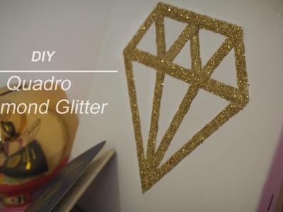 DIY - Quadro Diamante Glitter (Diamond Glitter Frame) | Laiara Dias