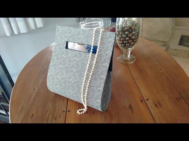 Tutorial de Bolsa de Mão - Cartonagem - DIY