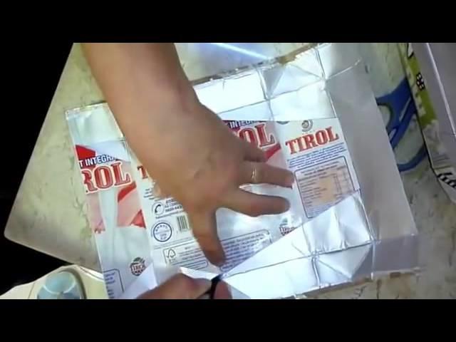 Artesanato com caixas de leite