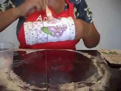 Artesanato e reciclagem - Transforme uma lata de achocolatado em um lindo porta-treco