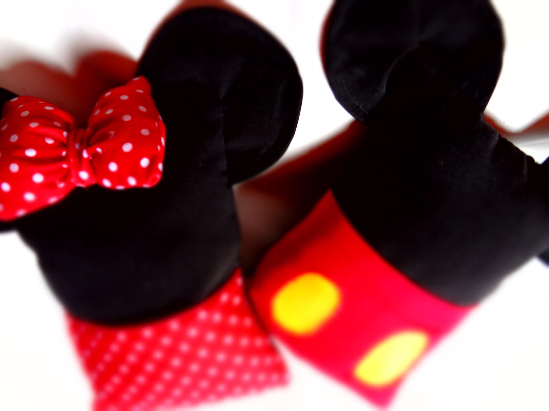 DIY :Almofadas Minnie e Mickey porta celular