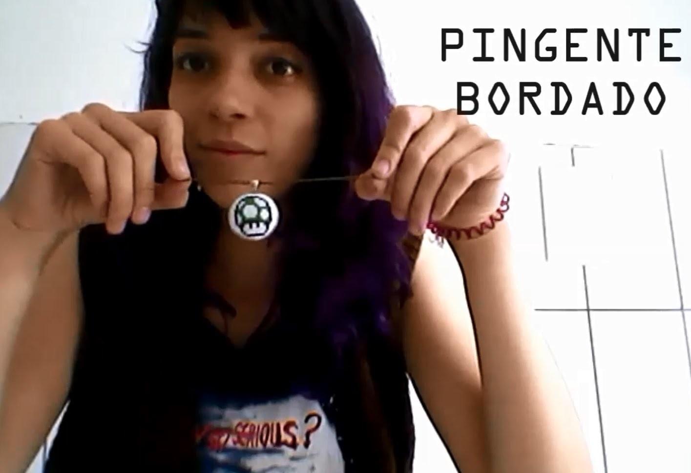 DIY - Pingente Bordado