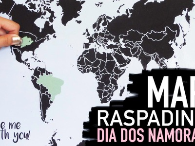 Tutorial mapa raspadinha. Scratch map by Isabelle Verona