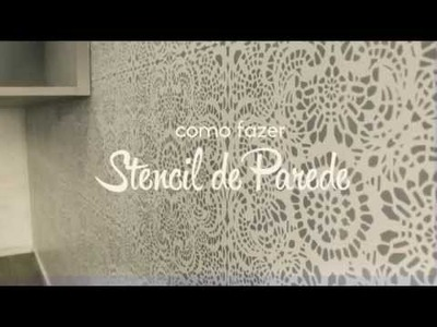 Tutorial Stencil de Parede - Stencil Decor