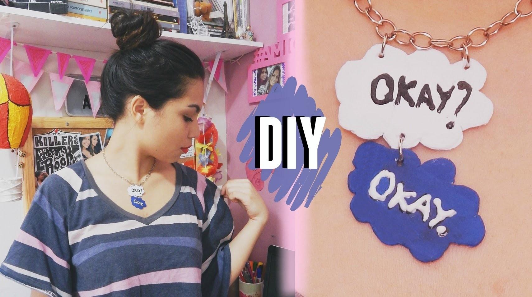 "DIY: Colar de ""A Culpa é das Estrelas"" Okay? Okay"