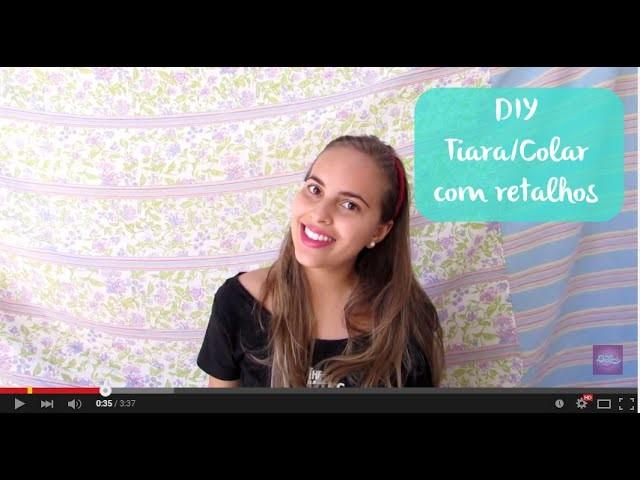 DIY Colar.Tiara de retalhos - Necklace Patchwork