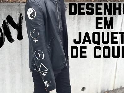 DIY-Desenhos em jaqueta de couro