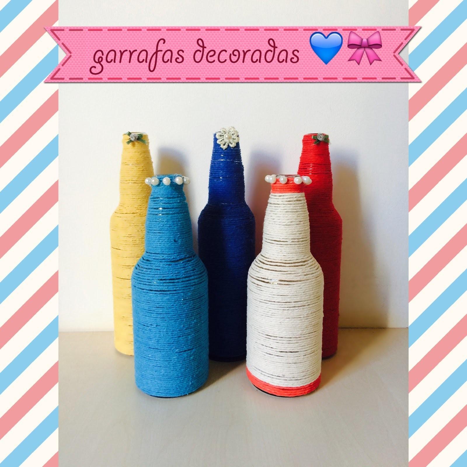 DIY: garrafas decoradas