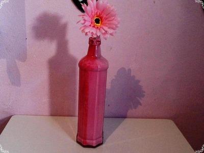 Diy: Pintura de garrafa de vidro para decoração