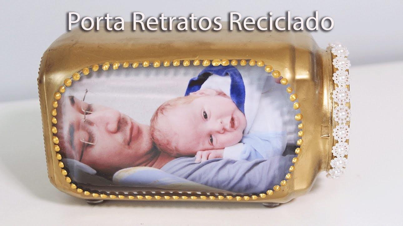 DIY Porta Retratos Com Potes de Vidro Reciclado Como Fazer