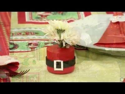 Canal do Artesanato - Decoração de mesa de Natal