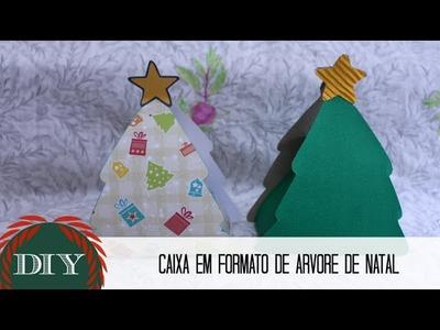 DIY: Caixa em Formato de Árvore de Natal