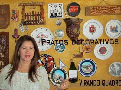 DIY - Quadros de Pratos na Parede.
