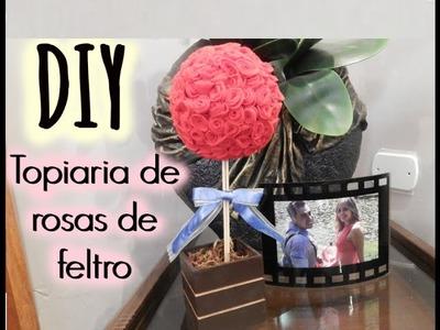 DIY- Topiaria rosas de feltro - Jessica Dallatorre