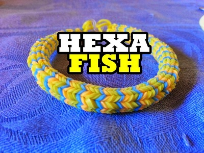 Tutorial:Como Fazer Pulseiras De Elásticos(Hexa Fish) I Caio Nunes