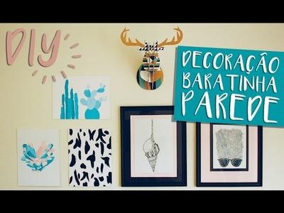 Tutorial decoração baratinha para paredes. Inexpensive wall decor. By Isabelle Verona