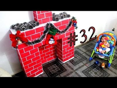 #32 - DIY  - Como fazer uma Lareira linda de Natal!