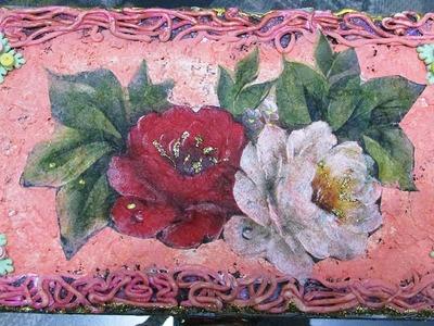 Artesanato: Como decorar caixinhas de papelão