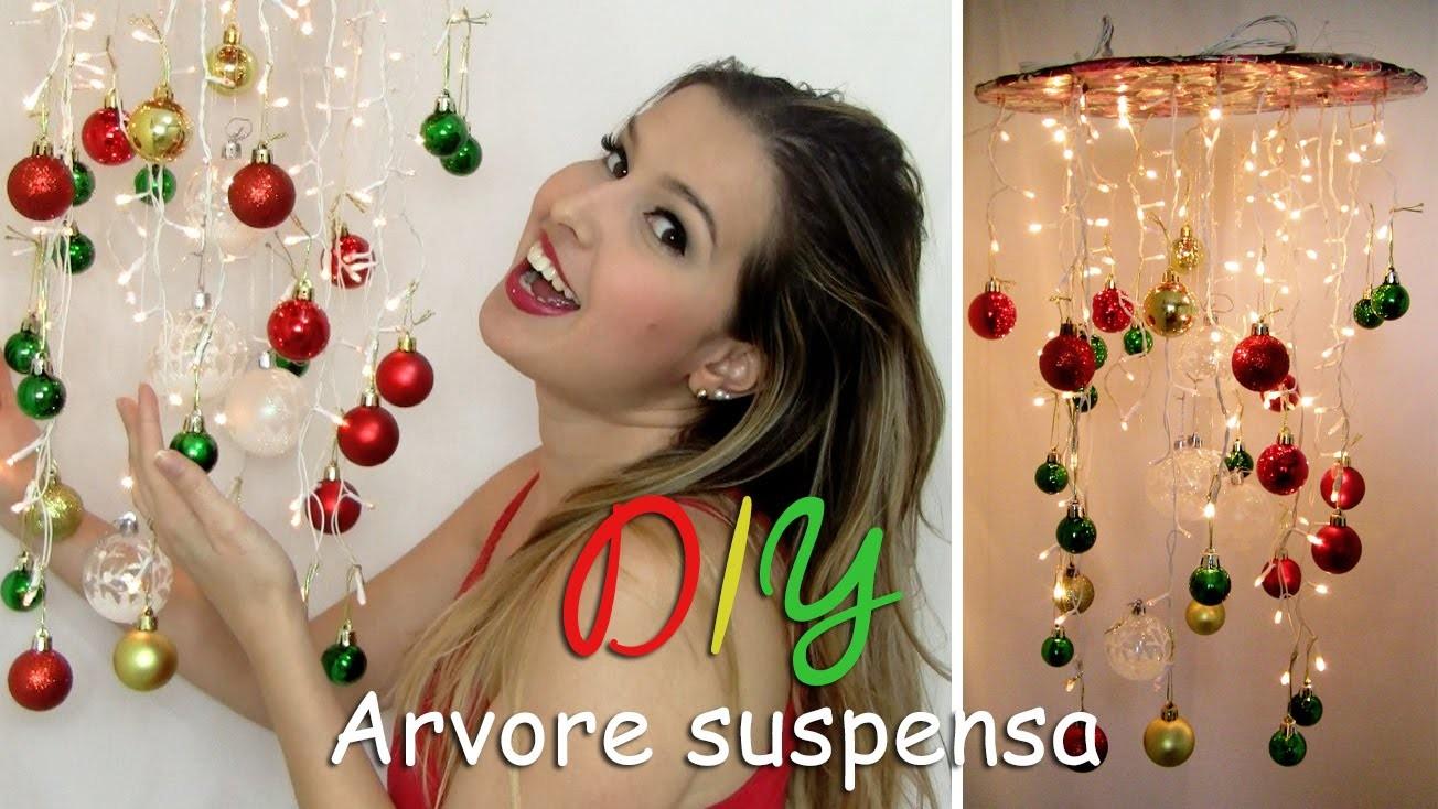 DIY - Arvore de Natal Suspensa. Thábatta Campos