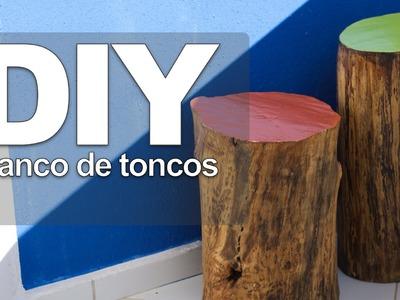 DIY : Banco de troncos
