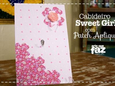 DIY - Cabideiro Sweet Girl com Patch Apliquê (Sonia Marques)