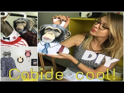 DIY - Como fazer um cabide cool. clothes hangers !