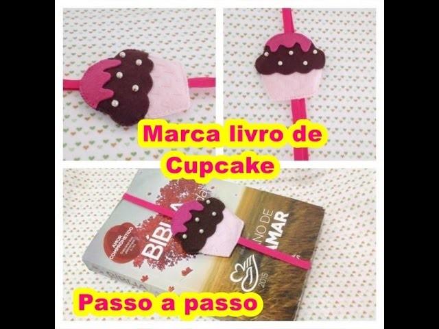 DIY Marca paginas em feltro Cupcake _Artesanato