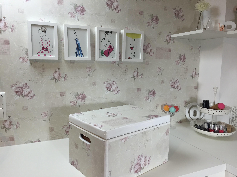 Aproveite os restos de papel de parede! Faça você mesma-DIY