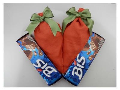 Cenoura de feltro - Embalagem de doces - Artesanato - Passo a passo