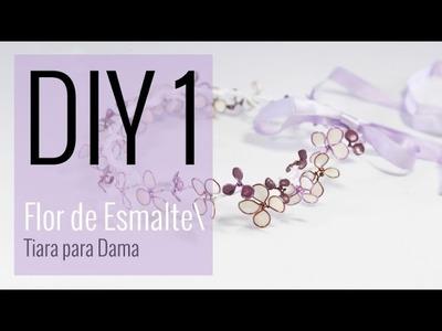 [DIY 1- CASAMENTO]  Coroa de Flores de Esmalte Dama