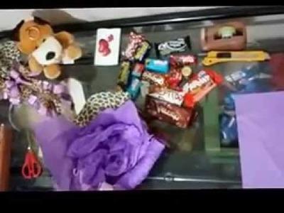 DIY -Como Fazer uma cesta de chocolates pequena