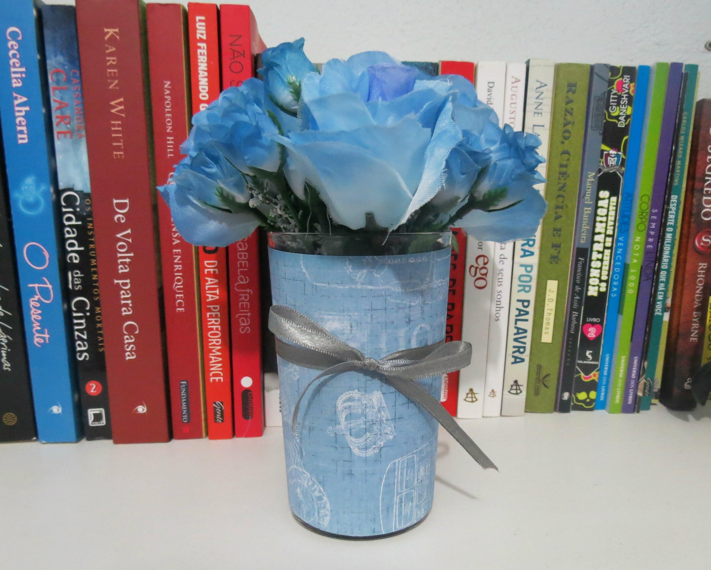 Diy - Como transformar um copo em um lindo vaso de flores - Decoração