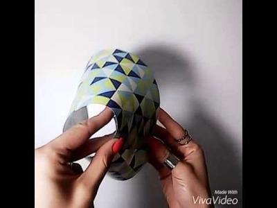 DIY Luminária com formato de abajur
