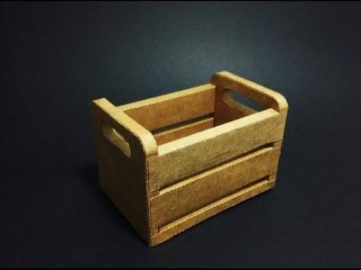 DIY - Mini Caixote de feira 3D feito em papel, Faça você mesmo!