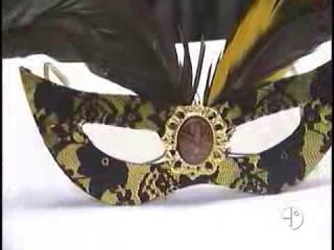 Máscara para Carnaval - Artesanato - Cenário Feminino em 22.02.2014