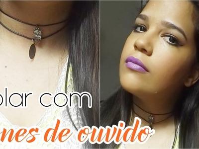 DIY - Colar com fones de ouvido por Laiza Oliveira