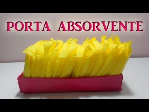 DIY- Faça Você Mesma: Porta absorvente   Jéssica Rayane