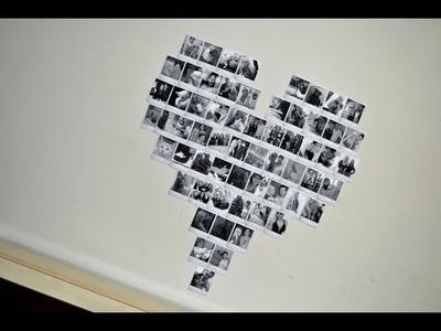 DIY: Mural de Fotos de Coração.