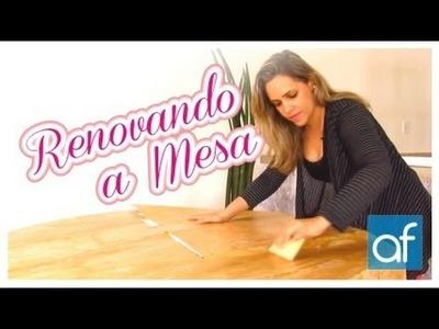 DIY: Renovando a Mesa com Papel de Parede Adesivo
