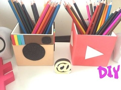 Porta Lápis | Instagram e Youtube - DIY ♥ ♥