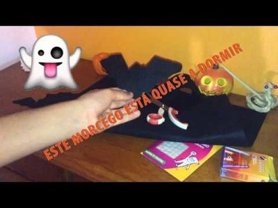 DIY BAT IN FELT ( EM PORTUGUÊS) | HAPPY HALOWEEN . .