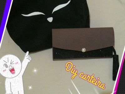 Diy CARTEIRA COM 5 DIVISOES+PORTA FOTO em eva+ preview bolsa de gatinho