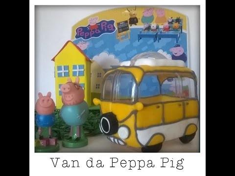 DIY.Festa Peppa Pig 3 -  Porta balas Van de acampar da Família Pig