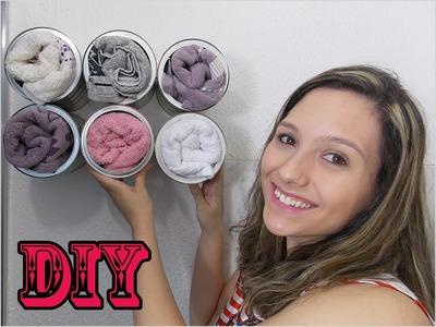 Porta toalha - Reutilizando latas de leite - Maratona DIY #05