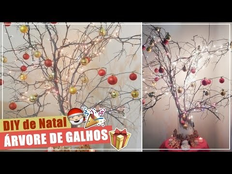 DIY: Árvore de Natal FÁCIL com galhos secos. christmas idea | Andressa Moraes