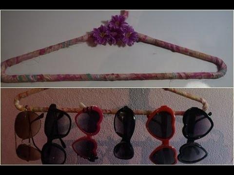 DIY: Cabide decorado porta óculos ou cordão
