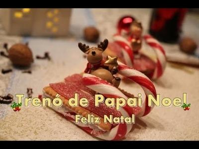 DIY : Comida decorada para o Natal Trenó de Papai noel
